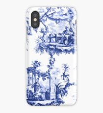 Blue Chinoiserie Toile iPhone Case/Skin