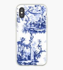 Blaue Chinoiserie Toile iPhone-Hülle & Cover