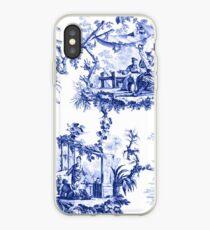 Vinilo o funda para iPhone Azul Chinoiserie Toile