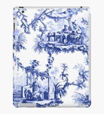 Blaue Chinoiserie Toile iPad-Hülle & Klebefolie
