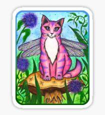 Dea Dragonfly Fairy Cat Sticker
