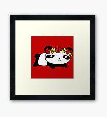 Flower Crown Panda Framed Print