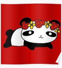 Flower Crown Panda Poster