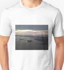 Aerial View, Hudson River, Ellis Island, New Jersey, Sunset, Skyline,  Lower Manhattan, New York City T-Shirt