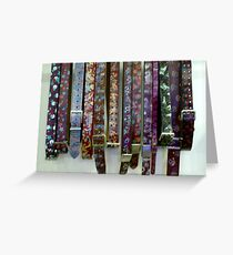Belts Greeting Card