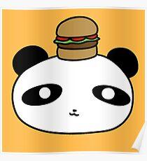 Hamburger Panda Face Poster
