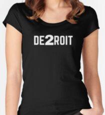 DE2ROIT Tee Women's Fitted Scoop T-Shirt