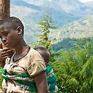 Rwandan girl on the side of the road by Bryn