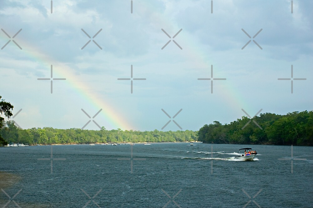 Double Rainbow over the Suwannee River by Stacey Lynn Payne