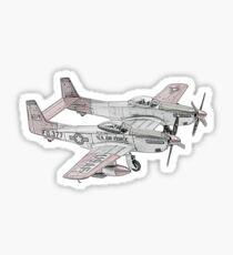 North American F-82 Twin Mustang Sticker