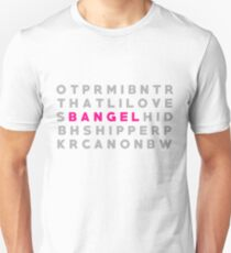 "Buffy & Angel ""Bangel"" Crossword Puzzle T-Shirt"