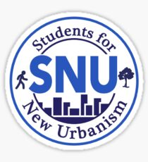 Students for the New Urbanism Sticker