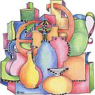 Bottles and Vases by Giselle Luske
