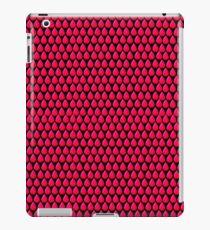 Shocking Pink Tear Drop Grid Design iPad-Hülle & Klebefolie