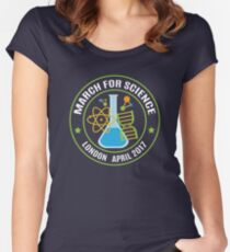 March for Science London 2017 Women's Fitted Scoop T-Shirt