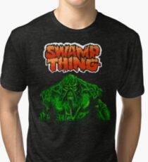 Swamp Thing (Nes) Title Screen Tri-blend T-Shirt