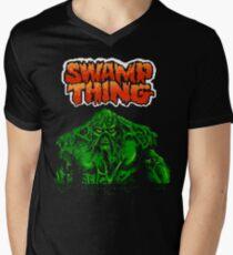 Swamp Thing (Nes) Title Screen Men's V-Neck T-Shirt