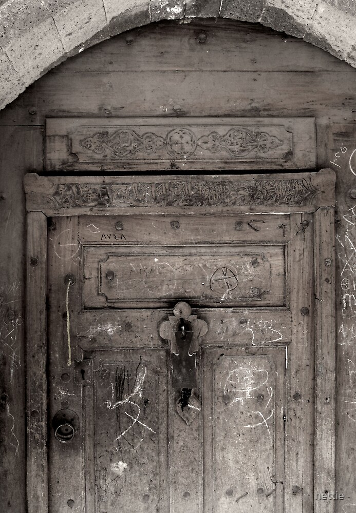 Inscribed door by hettie