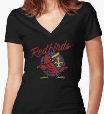 Louisville Redbirds Classic Women's Fitted V-Neck T-Shirt