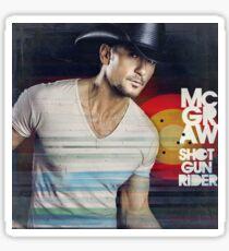 Tim McGraw Shot Gun Rider Sticker
