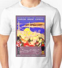 SIMPLON ORIENT EXPRESS: Train Travel Advertising Print T-Shirt