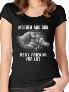 mother and son Women's Fitted Scoop T-Shirt