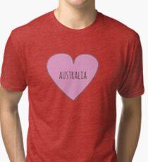 I Love Australia  Tri-blend T-Shirt