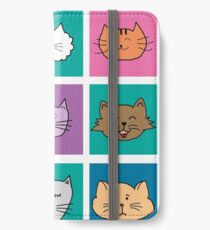 Funny Emotion Cat Faces iPhone Wallet/Case/Skin
