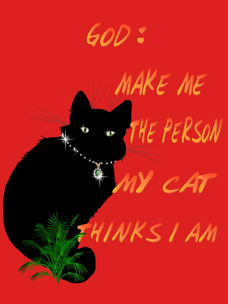 God: Make Me The Person My Cat Thinks I Am by Lotacats