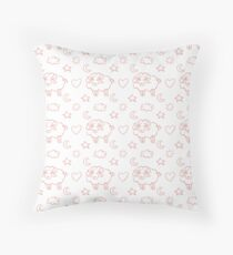 sleepy sheep Throw Pillow