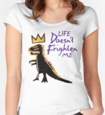 Jean Michel Basquiat Dinosaur Tee Women's Fitted Scoop T-Shirt