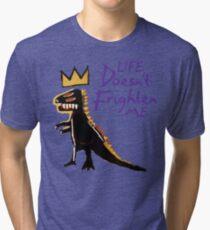 Jean Michel Basquiat Dinosaur Tee Tri-blend T-Shirt