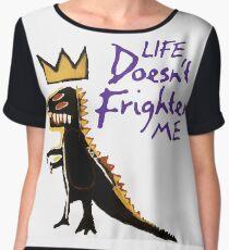 Jean Michel Basquiat Dinosaur Tee Chiffon Top