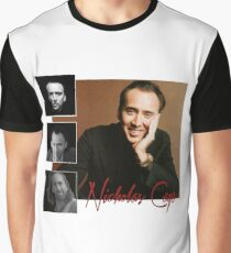 Retro Style Nicholas Cage Tribute  Graphic T-Shirt