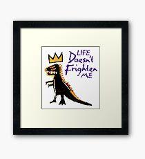 Jean Michel Basquiat Dinosaur Tee Framed Print
