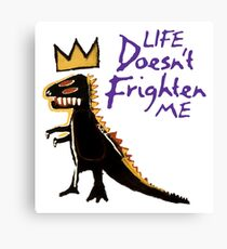 Jean Michel Basquiat Dinosaur Tee Canvas Print