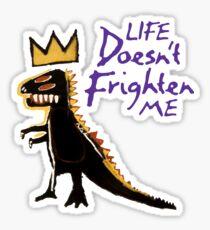 Jean Michel Basquiat Dinosaur Tee Sticker