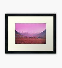 Snowdonia in Winter (Expired Film) #2 Framed Print
