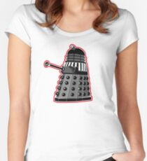 Dalek Warrior Red Women's Fitted Scoop T-Shirt