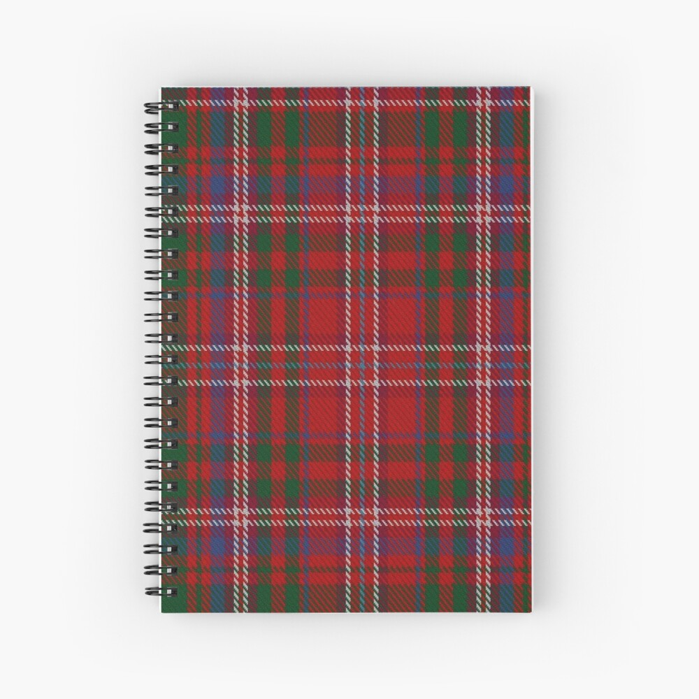 MacDougall #4 Clan/Fabric Tartan  Spiral Notebook