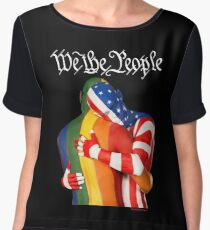 We The People (to print on dark colors) Chiffon Top