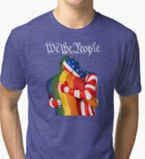 We The People (to print on dark colors) Tri-blend T-Shirt
