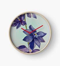 Purple Flower Clock