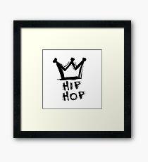 Hip-hop is king Framed Print