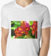 Fiery Orchids Men's V-Neck T-Shirt