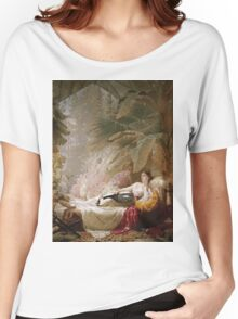 George Elgar Hicks - Portrait Of Adelaide Maria Guinness Women's Relaxed Fit T-Shirt
