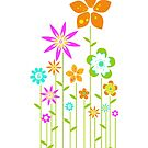colorful stick flowers by keyweegirlie