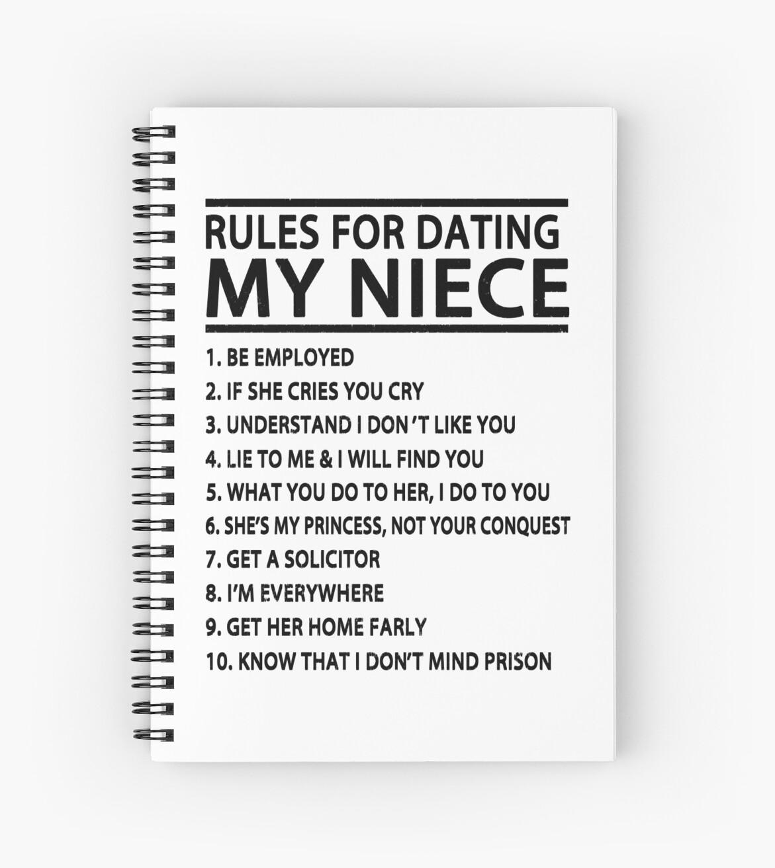 Regeln für die Datierung meiner Schwester