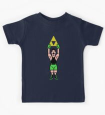 Little Mac Gets The Tri Force Kids Tee
