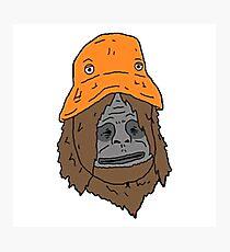 The Orange Hat Photographic Print